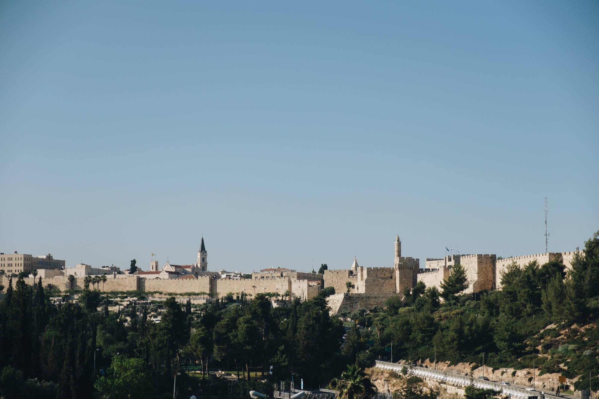вид на старый город Иеруслаим - фотограф Антон Миславский
