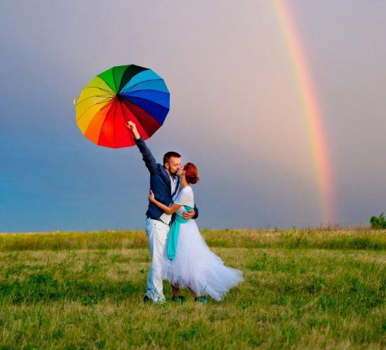 Свадебная фотосессия в Дубках. Летом после дождя. Фотограф Антон Миславский